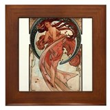 Alphonse Mucha Framed Tile