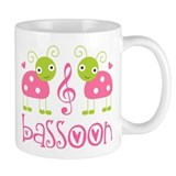 Cute Bassoon Ladybug Small Mug