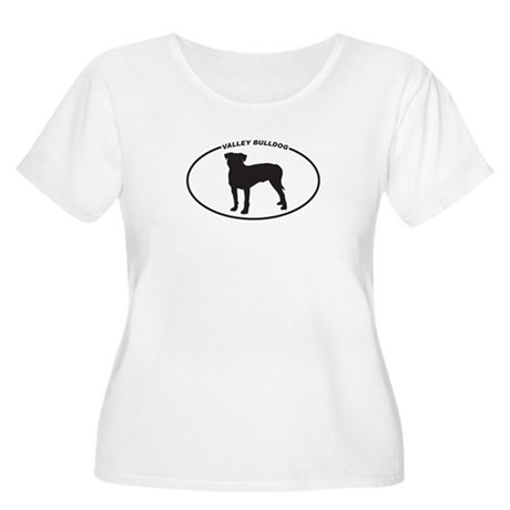 Valley Bulldog Silhouette Women's Plus Size Scoop