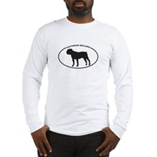 Victorian Bulldog Silhouette Long Sleeve T-Shirt