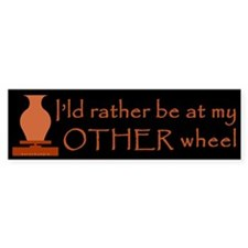 Other Wheel for Potters Bumper Sticker