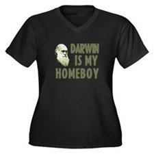 Darwin is my Homeboy Women's Plus Size V-Neck Dark