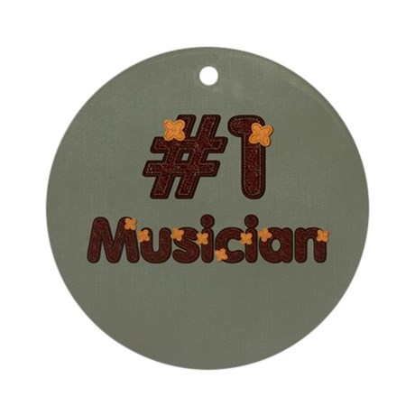 #1 Musician Ornament (Round)