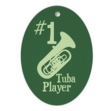 #1 Tuba Player Ornament (Oval)