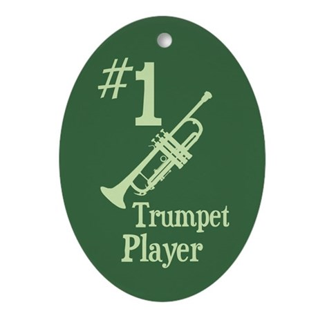 #1 Trumpet Player Ornament (Oval)
