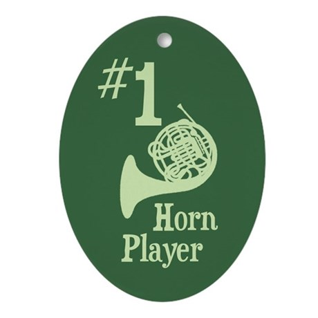 #1 Horn Player Ornament (Oval)