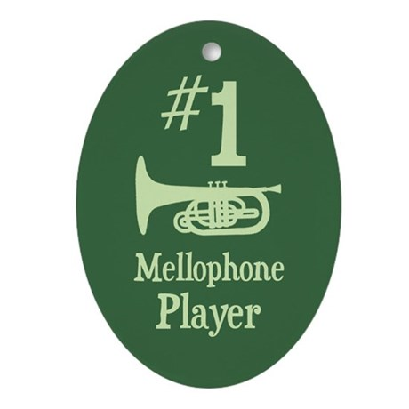 #1 Mellophone Player Ornament (Oval)