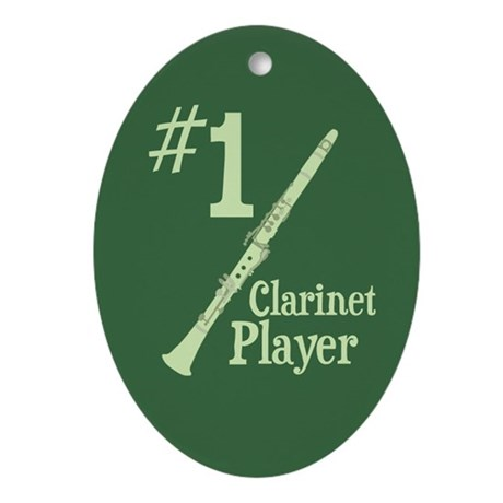 #1 Clarinet Player Ornament (Oval)