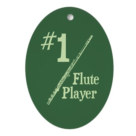 #1 Flute Player Ornament (Oval)