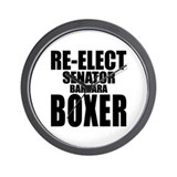 Re-Elect Sen. Boxer Wall Clock