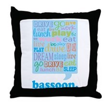 Bassoon Life Music Throw Pillow