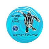 "ONE TURTLE AT A TIME 3.5"" Button (100 pack)"
