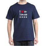 I Love My Schanuzer T-Shirt