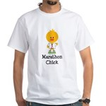 Marathon Chick 26.2 White T-Shirt