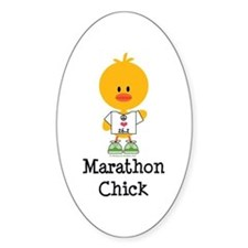Marathon Chick 26.2 Decal