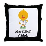 Marathon Chick 26.2 Throw Pillow