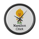 Marathon Chick 26.2 Large Wall Clock