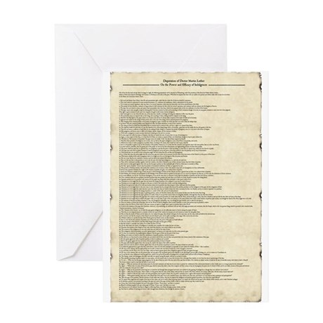 Luther's 95 Theses Greeting Card