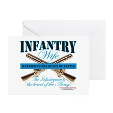 Infantry Wife IN Infantryman Greeting Cards (Pk of