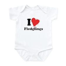 I heart fledglings Infant Bodysuit