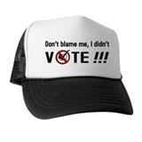 Don't blame me, I didn't VOTE!!! Hat
