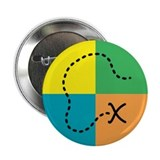"Geocaching Buttons and Magnet 2.25"" Button (100 pa"