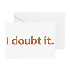 I doubt it. (Orange) Greeting Cards (Pk of 20)