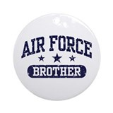Air Force Brother Ornament (Round)