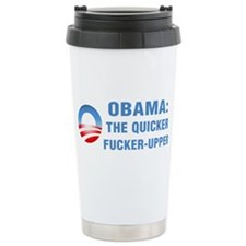 Quicker Fucker-Upper Ceramic Travel Mug