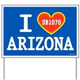 I Heart Arizona Yard Sign
