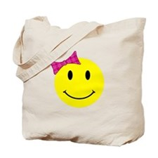 Girl Happy Face Tote Bag