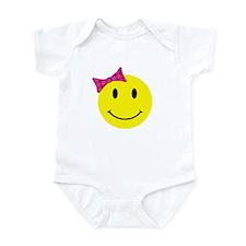 Girl Happy Face Infant Bodysuit