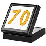 70th Birthday (Orange) Keepsake Box