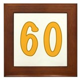 60th Birthday (Orange) Framed Tile
