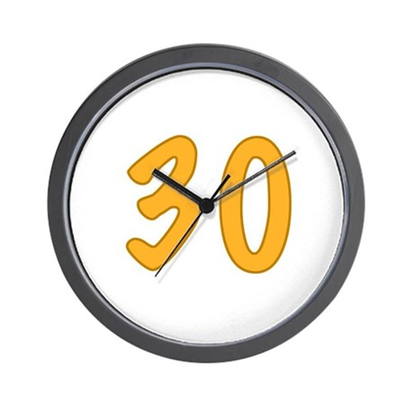 30th Birthday (Orange) Wall Clock