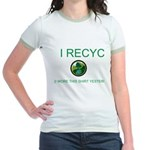 I Recycle Jr. Ringer T-Shirt