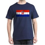 Croatia Blank Flag Navy Blue T-Shirt