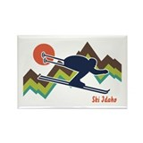 Ski Idaho Rectangle Magnet