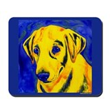 Yellow Lab (blue) Mousepad