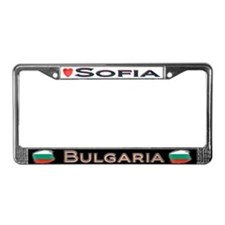 Sofia, BULGARIA - License Plate Frame