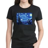 Starry Night Border Collie Tee