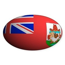 Bermuda Flag Rounded Oval Decal