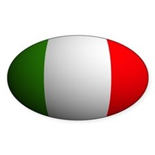 Italy Flag Rounded Oval Decal