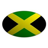 Jamaica Flag Rounded Oval Decal