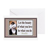 Unique Rumi Greeting Card