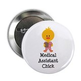 "Medical Assistant Chick 2.25"" Button (10 pack)"