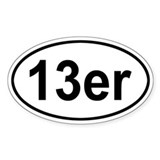 13er Oval Decal