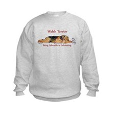 Exhausted Welsh Terrier Sweatshirt