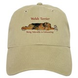 Exhausted Welsh Terrier Cap