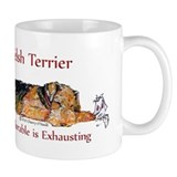 Exhausted Welsh Terrier Small Mug